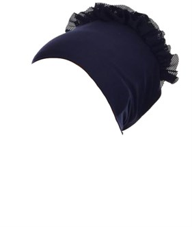 Lacy seamless Navy Blue Bonnet