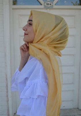 Kroren Tulle shawl yellow